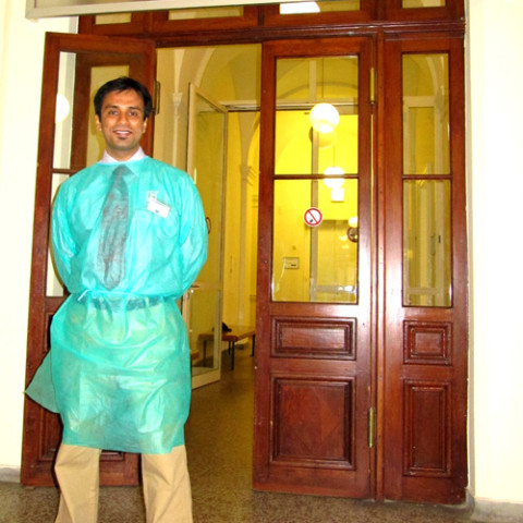 Dr. Debraj Shome at the world famous Anatomy Training Center at the Medical University, Vienna, Austria for the 'Hands-On Aesthetic Facial Surgery and Rhinoplasty Cadaver Dissection Course', October 2009.