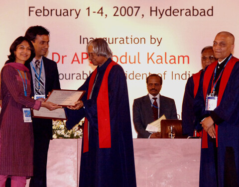 Dr. Debraj Shome being felicitated by The President of India, His Excellency, The Honourable Dr. A.P.J. Abdul Kalam in February. 2007 Dr. Debraj Shome was awarded by The President of India for his outstanding contributions to the field of Ophthalmology and Plastic Surgery.