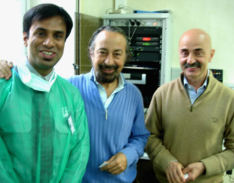 Dr. Debraj Shome with Dr. Giovanni Botti and Dr. Mario Pelle Ceravolo, top Italian Plastic Surgeons at the Cadaver Dissection Course, Vienna, October 2009.